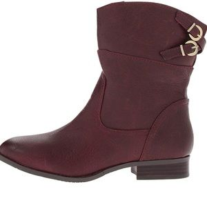 Chinese Laundry Face Off Leather Bootie Boot Wine
